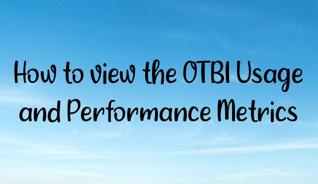 You are currently viewing How to view the OTBI Usage and Performance Metrics?